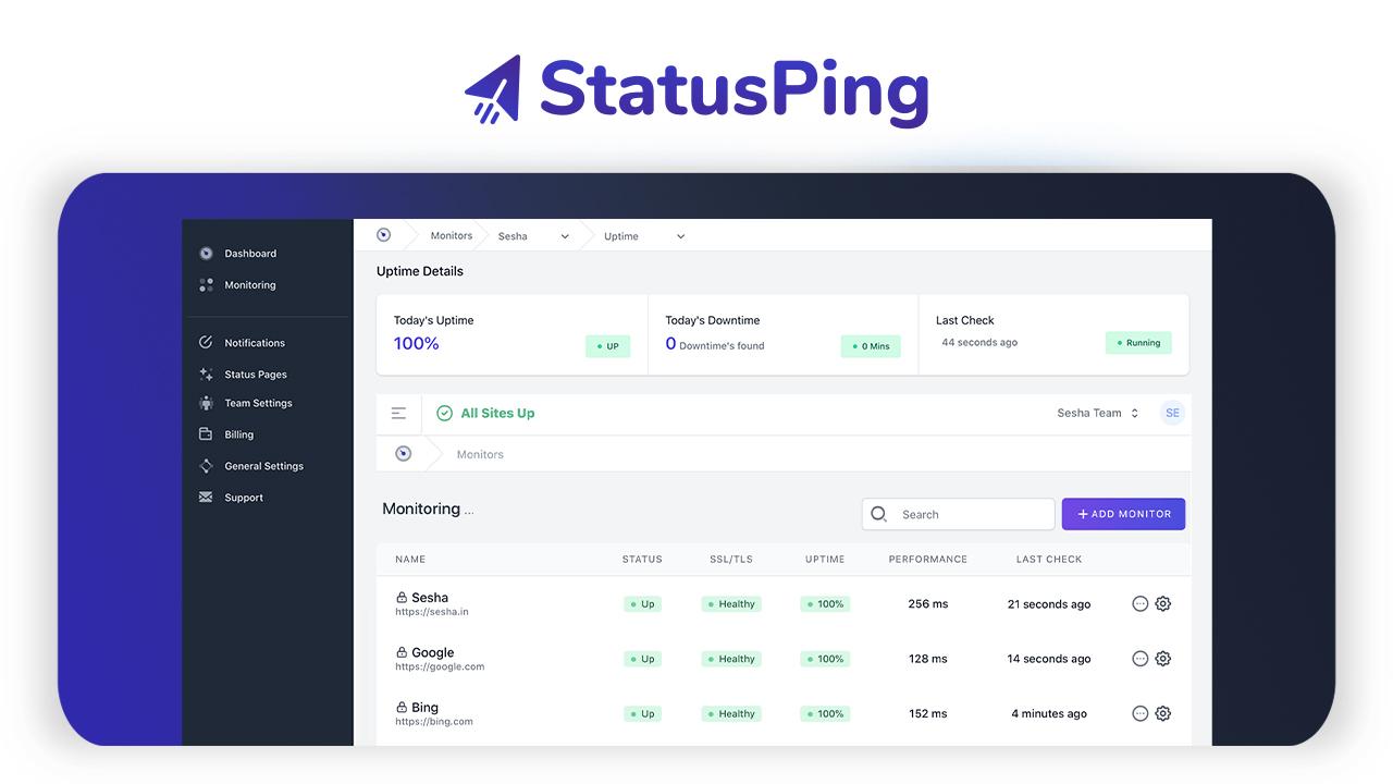 StatusPing Lifetime Deal